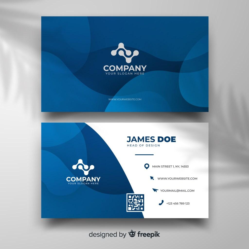 blue modern business card