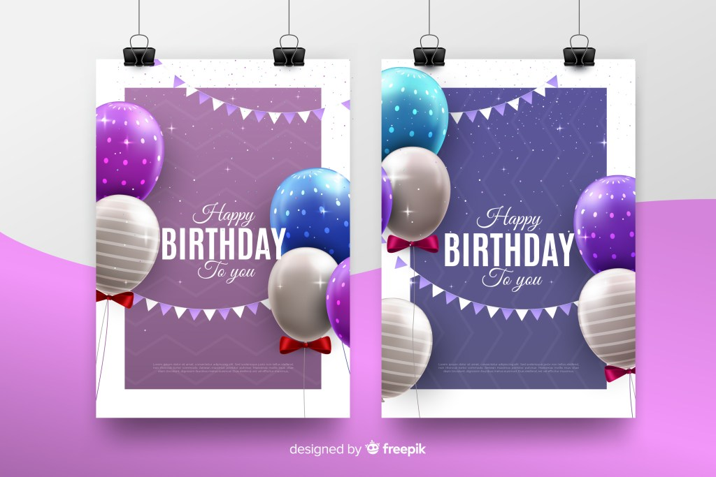 Free birthday invitation template