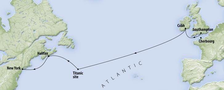 titanic route new york