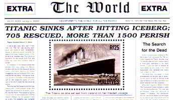 Titanic sinks newspaper