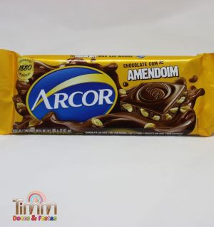 Barra Chocolate Preto com Amendoim | 80g | Arcor