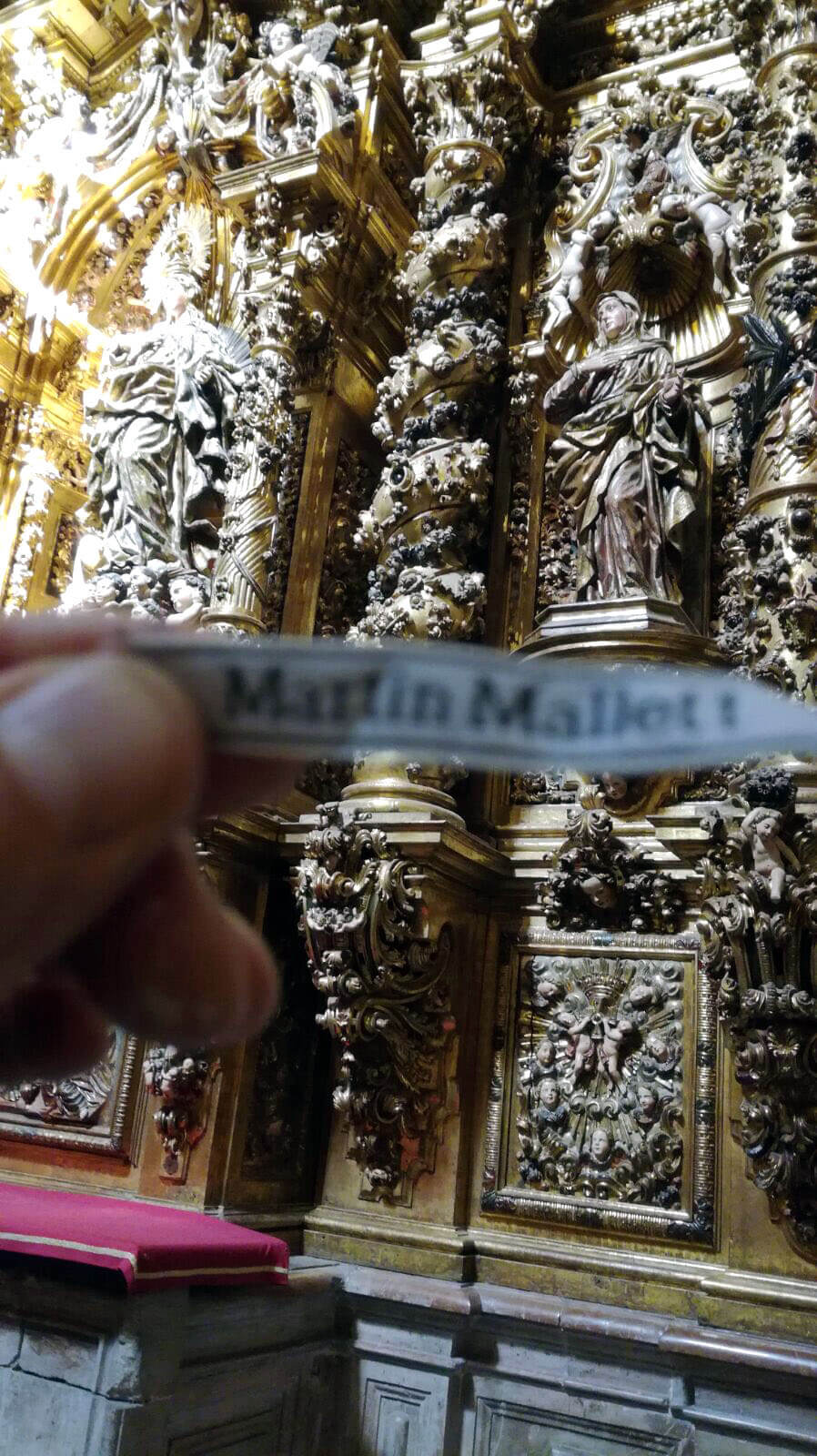 Martin in the cathedral