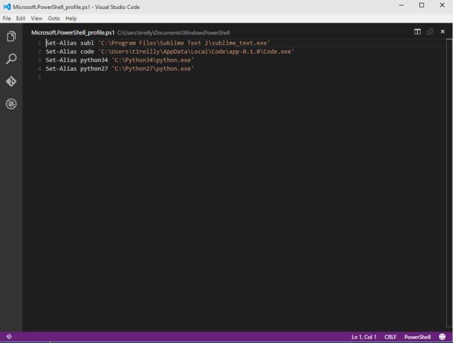 codeeditorpowershellprofile