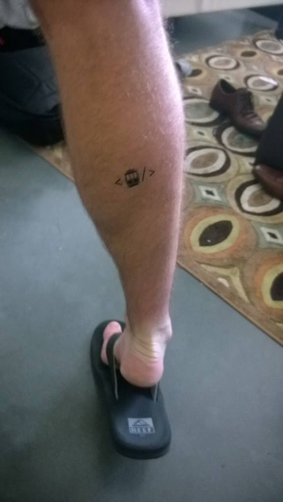 Code for SF's Hackathon gave out awesome tattoos!
