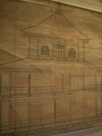 Plans for the Kinkakuji Temple, Kyoto