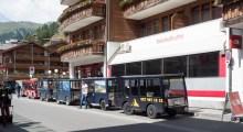 Electric taxis in Zermatt