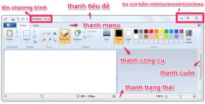 Các thành phần trong giao diện cửa sổ Windows