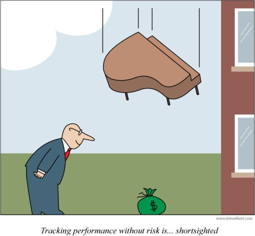 Cartoon: tracking performance without risk is... shortsighted