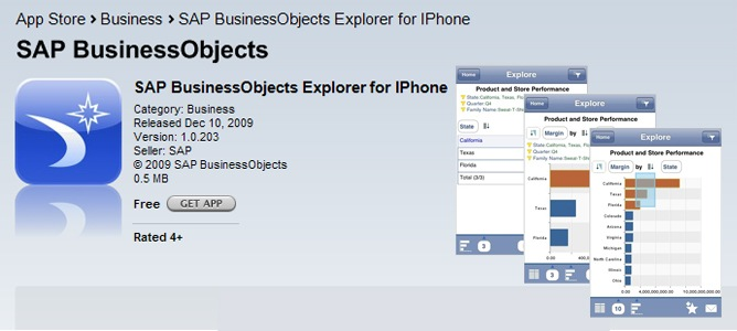 SAP BusinessObjects Explorer for iPhone Now Available on