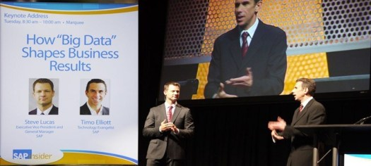 Steve Lucas and Timo Elliott presenting How Big Data Shapes Business Results