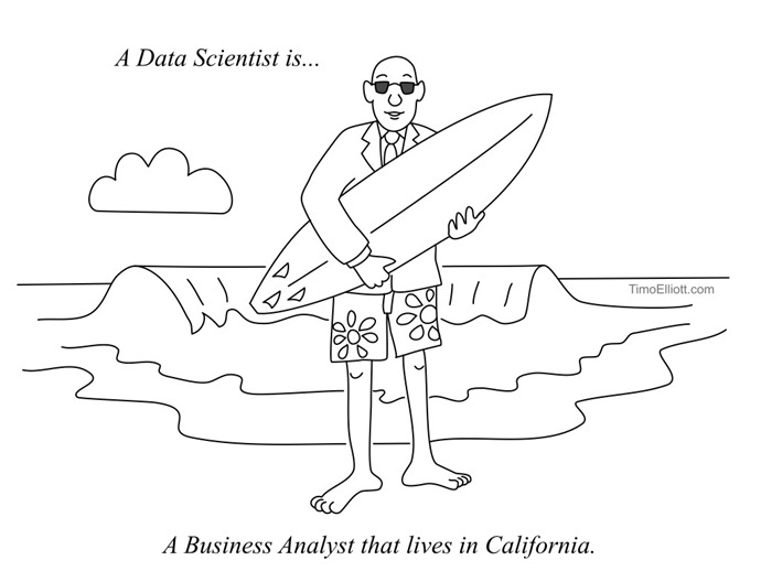 a data scientist is a business analyst that lives in california