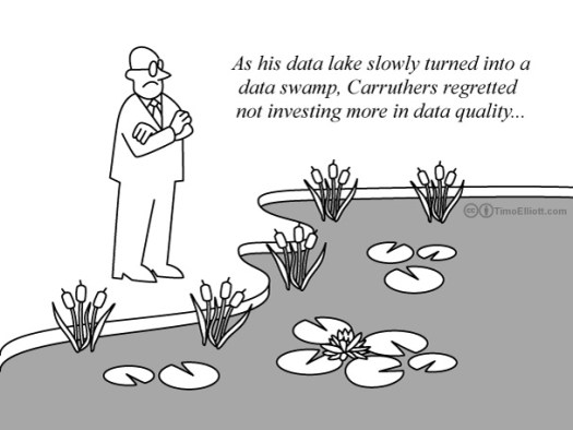Cartoon: from data lake to data swamp