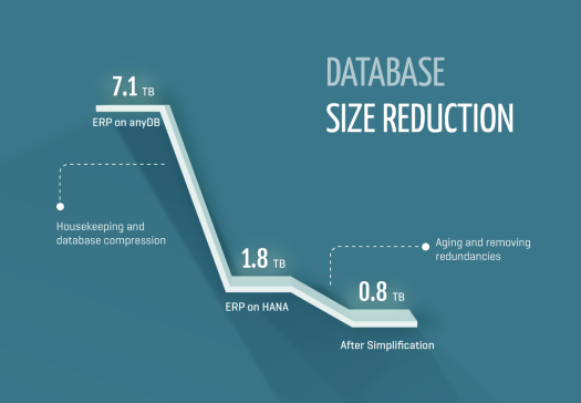 database size reduction of simple finance