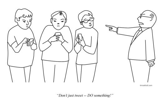 Don't Just Tweet -- DO something!