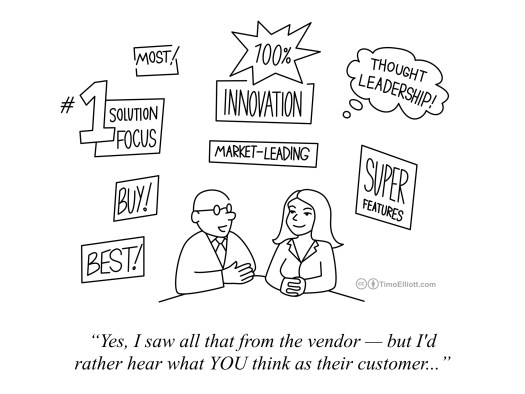 marketing content comes from customers