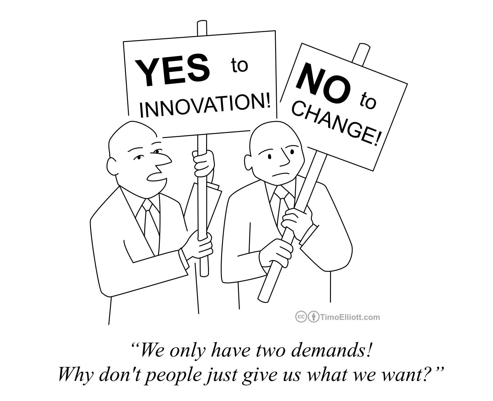 Innovation cartoons digital business business analytics yes to innovation no to change altavistaventures Gallery