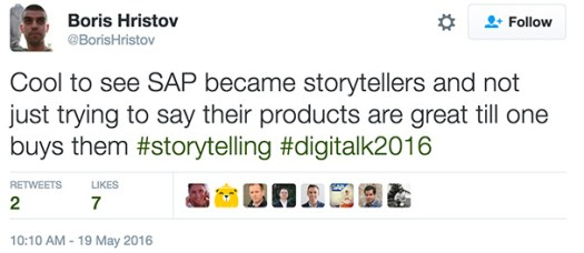 sap storytelling tweet