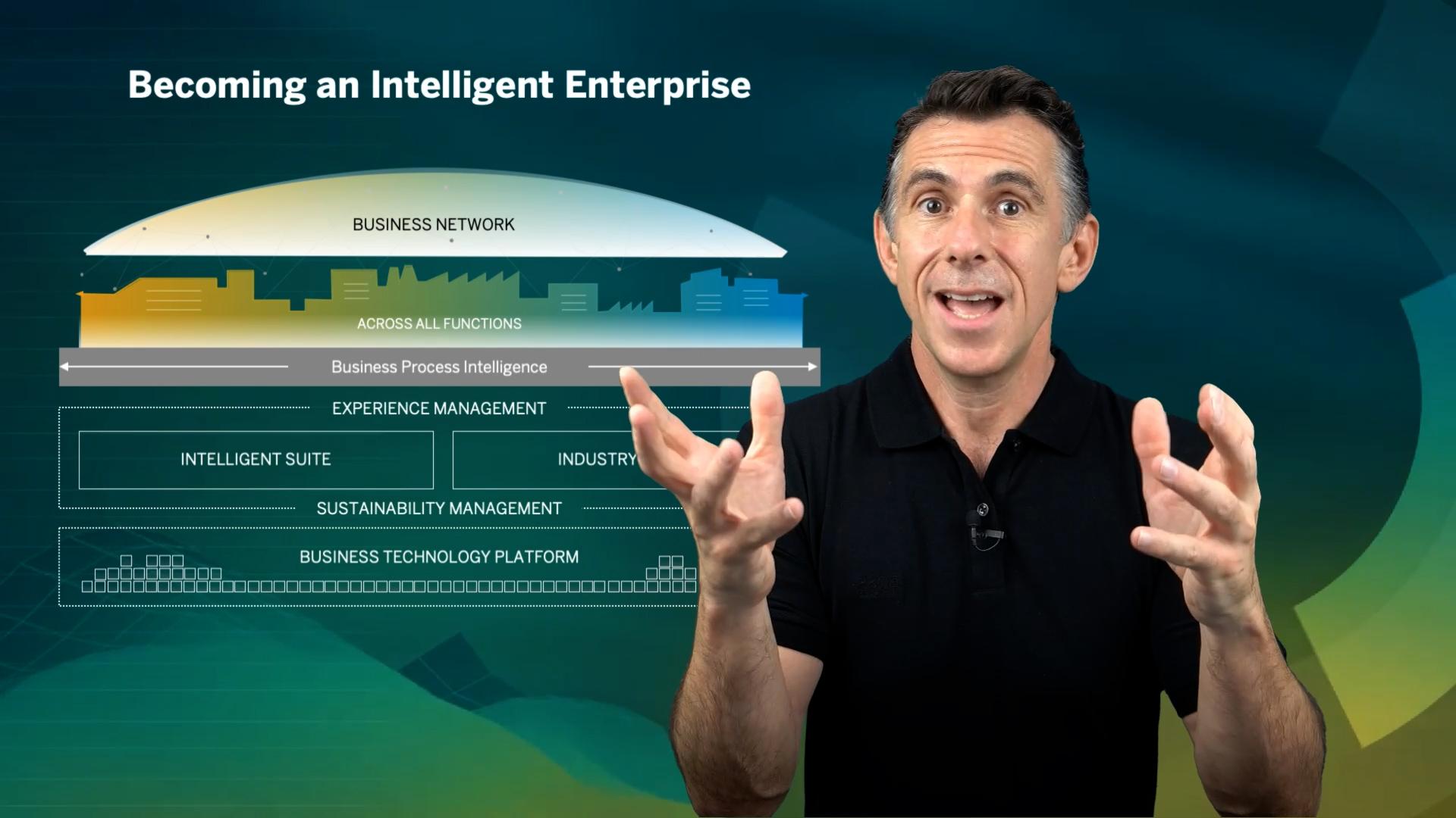 Timo Elliott presenting the intelligent enterprise marketecture