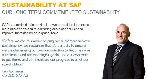 SAP has a well-developed internal sustainability program