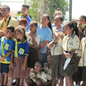 The community braved the tropical sun to witness their young intellectuals in action.