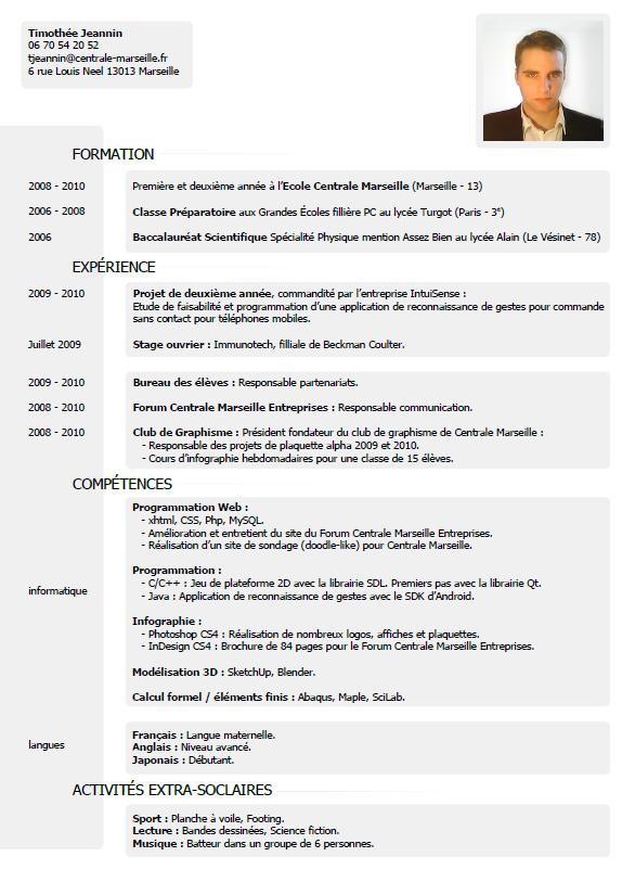 Curriculum Vitae Timothee Jeannin