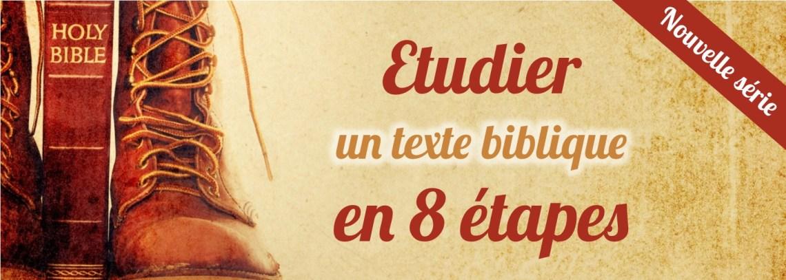 Etudier Bible 8 étapes