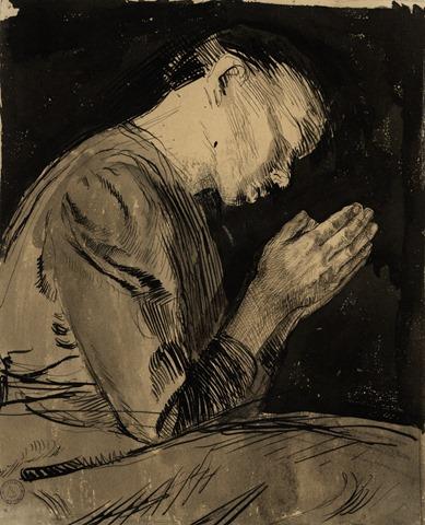 Femme en prière – Käthe Kollwitz – XXem Siècle – Allemagne
