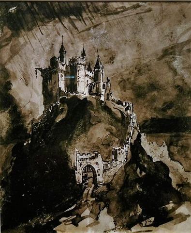 Château fort sur une colline – Victor Hugo – XIXem Siècle – France