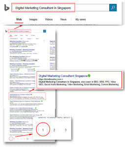 Rank First Page Bing