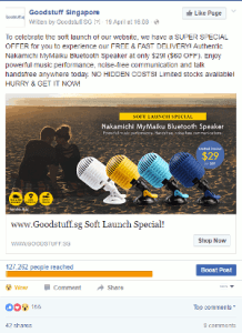 Digital Marketing Consultant Singapore - Portfolio - Facebook Marketing - Ad Campaign for Nakamichi speakers 1