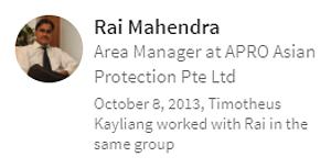 Digital Marketing Consultant Singapore - Testimonial - By Rai