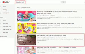 How To Rank On YouTube - Baby Bath Tub - small