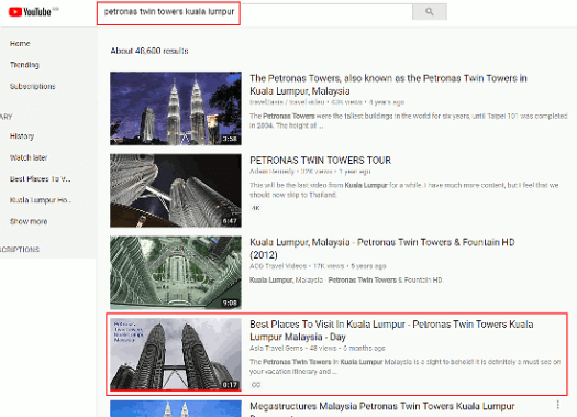 How To Rank On YouTube - Petronas Twin Towers - small