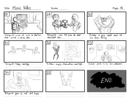 Music video storyboard -Page 4