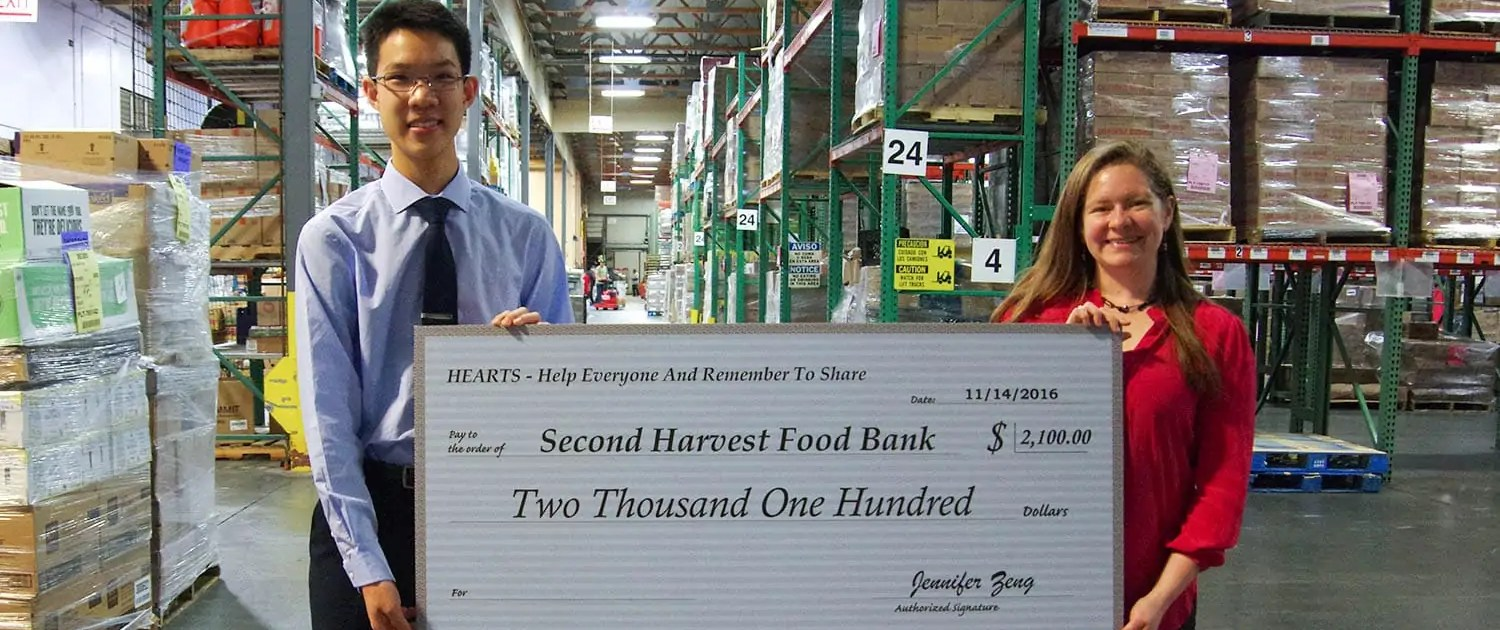 HEARTS Fundraised for Second Harvest Food Bank