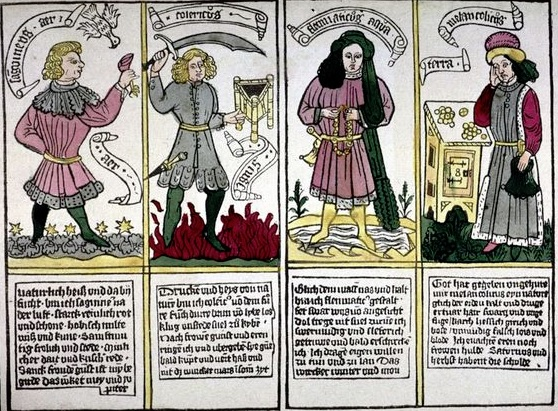 the four temperaments as related to the four humors