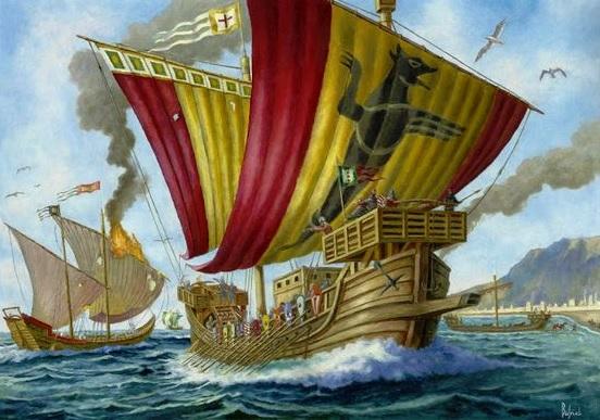 medieval warship
