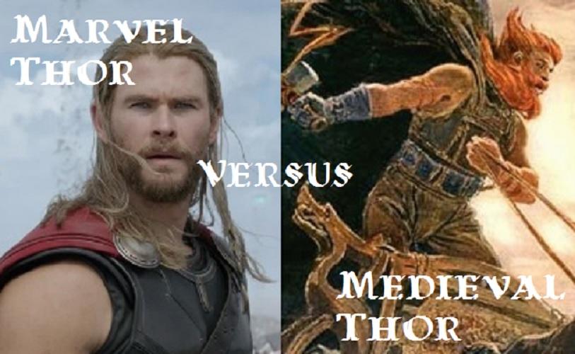 Medieval Thor vs. Marvel Thor (Comics vs. Sagas)