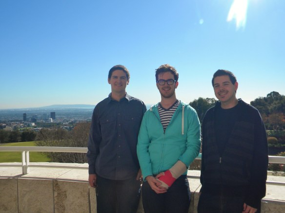 From left to right: Daniel, Josh and I at the Getty