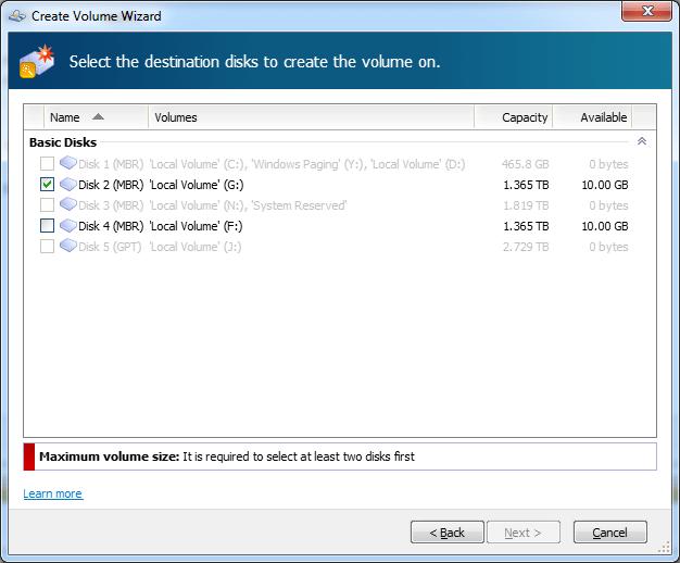 Select Disks