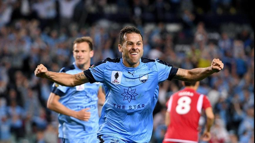 Adrian Mierzejweski, Sydney FC's playmaker, cracks open the FFA Cup Final