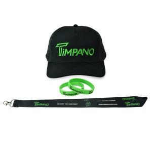 Timpano Hat+Green Bracelet+Lanyard+Sticker