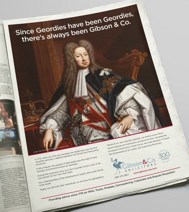 Advertising the history of Gibson & Co. Solicitors