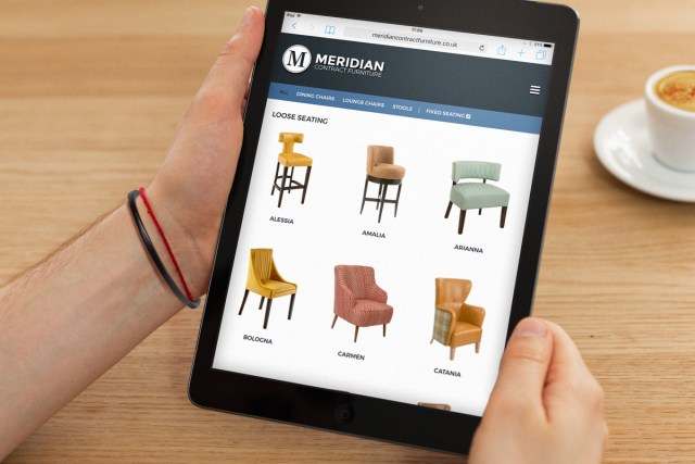 Branding and Website for Meridian Contract Furniture