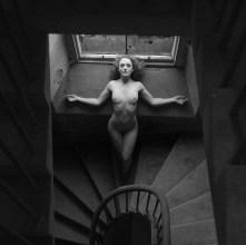 Stairway Woman