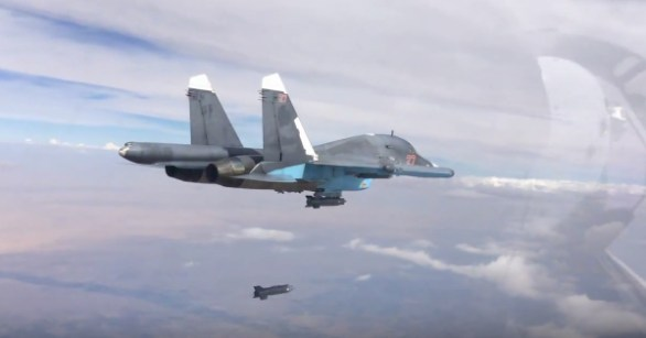 SU-34 Dropping Bombs