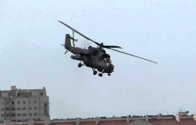A Russian Mi24 over Sevastapol, March 2014