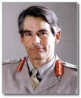 Lieutenant General Rupert Smith. The British commander of UN forces inside Bosnia