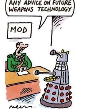MoD Take Advice from Dalek Cartoon