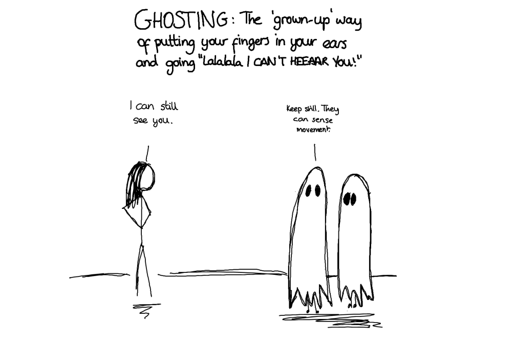 what is being ghosted mean